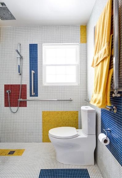 整体卫生间淋浴房卫生间设计布局效果图